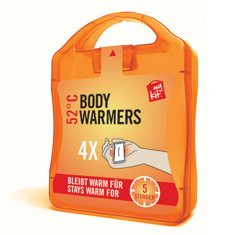 werbeland®-News: MyKit-Paket, Werbebox Bodywarmer in orange.
